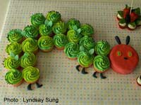 Caterpillar Cake Child's Birthday Cake