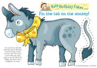 image about Pin the Tail on the Donkey Printable named Pin the Tail upon the Donkey Birthday Activity